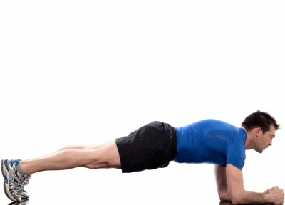Front Plank: Strengthen your abs to help your posture