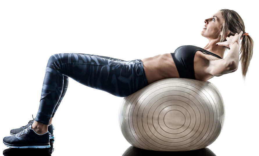 Swiss Ball Crunches | Best Toronto Chiropractor